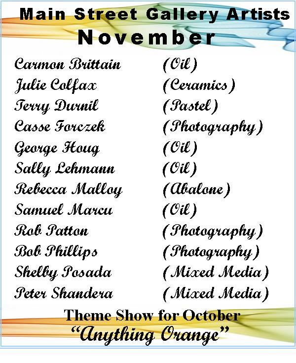November Artists at the Main Street Gallery
