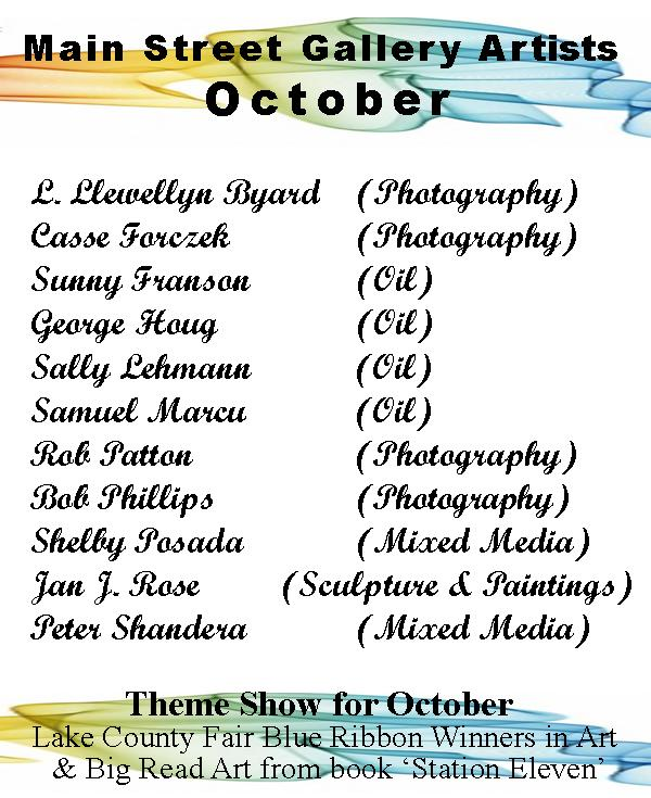 Artists for October